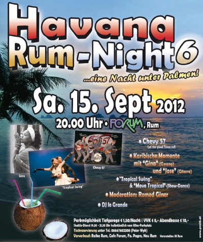 Plakat Havana Rum Night 6